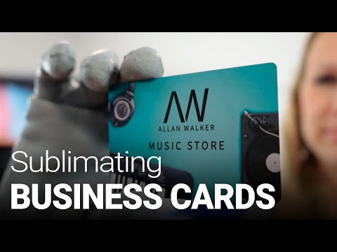 Sublimating Plastic-coated Business Cards