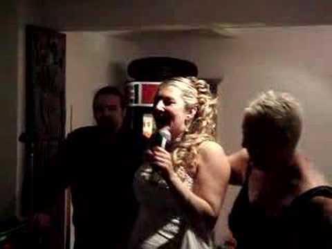 Pregnant Karaoke bride