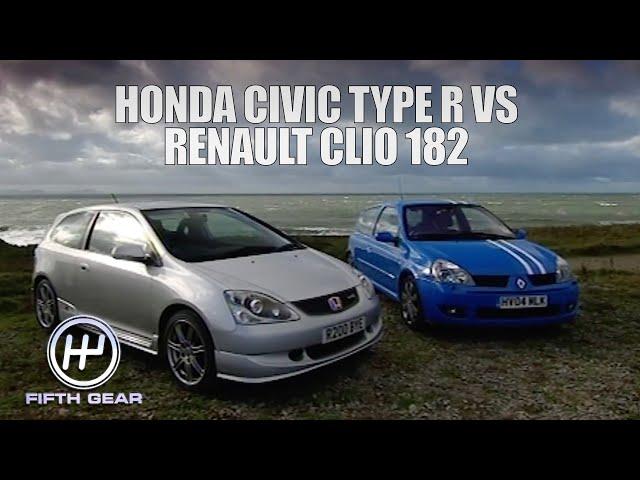 Honda Civic Type R VS Renault Clio 182 | Fifth Gear Classic