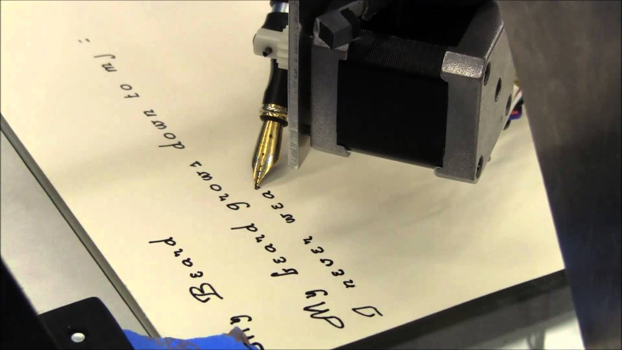 Herald The Calligraphy Machine First Runs With A