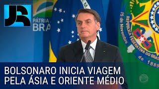 Presidente Jair Bolsonaro inicia viagem pela Ásia e Oriente Médio