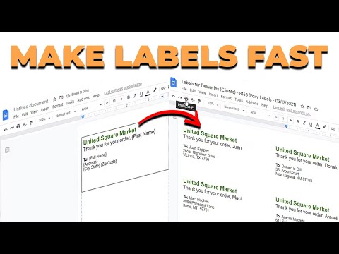 How to make labels in Google Docs using the Foxy Labels add-on