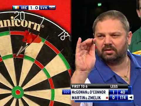 Ireland vs Slovakia PDC World Cup of Darts 2010 William O'Connor M. McGowan vs Peter Martin O.Zmelik