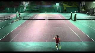 Вика 9 лет матч за 3 место. 9 years old girl (the small one) plays tennis