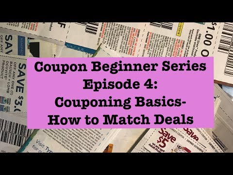 How to Match Deals with Coupons! Coupon Beginner Series Episode 4: Extreme Couponing 101