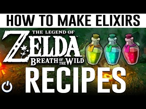 HOW TO MAKE EVERY ELIXIR - Zelda Breath of the Wild ALL RECIPES GUIDE