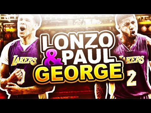 Can Lonzo Ball & Paul George win the Los Angeles Lakers a NBA Championship? (Draft) (Trade) 2017