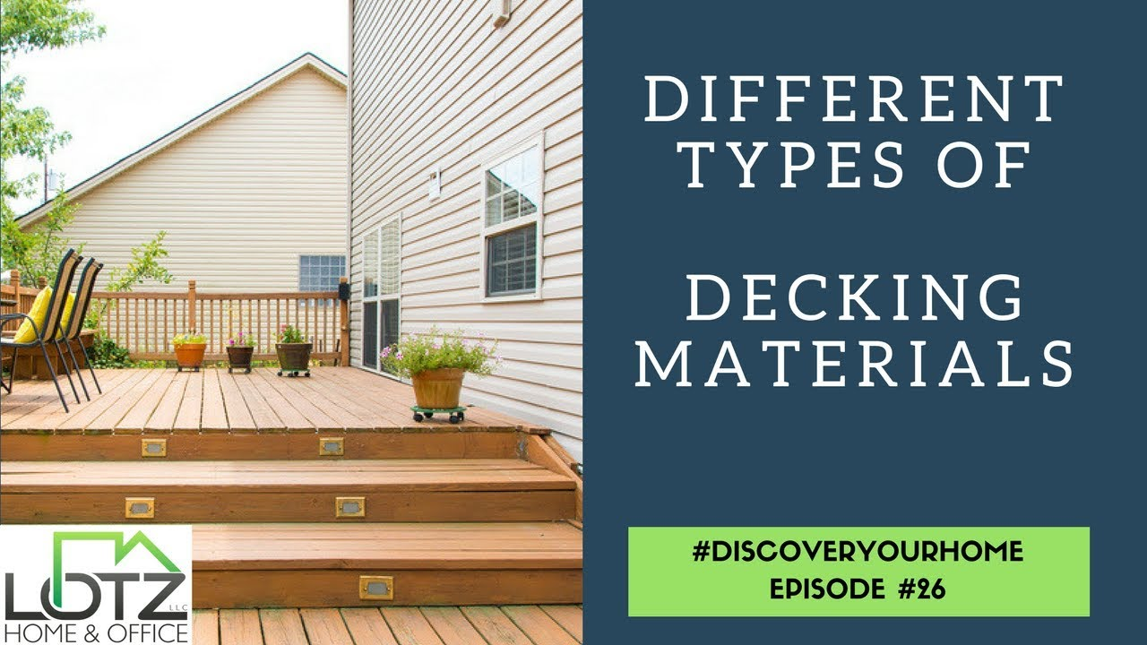 Different types of decking material deck board options
