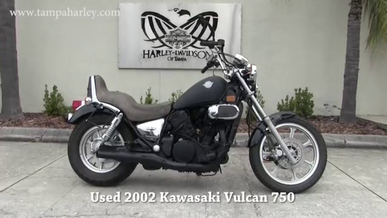 2002 Used Kawasaki Vulcan 750 Motorcycle for sale in Lakeland - YouTube