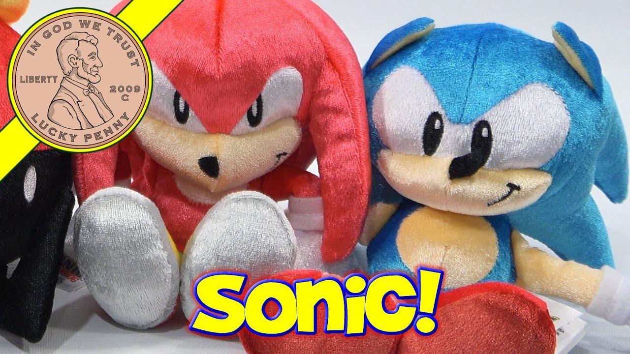 Sonic The Hedgehog 25th Anniversary Throwback Plush Toys Youtube