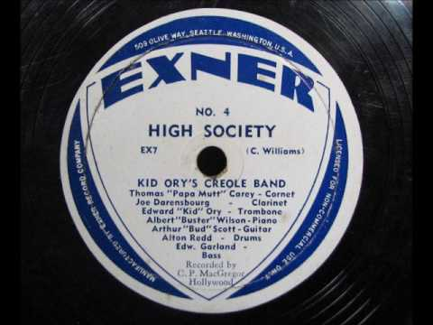 HIGH SOCIETY by Kid Ory's Creole Band 1945