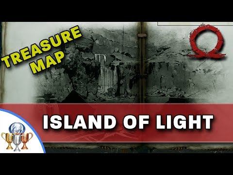 God of War Treasure Map - Island of Light - Map and Dig Spot Locations