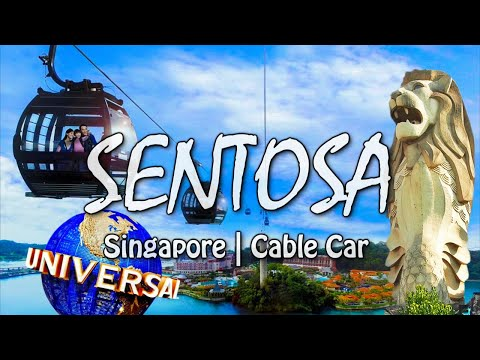SENTOSA Island in Singapore | Cable Car | Merlion | Palawan Beach | Asia's Southernmost Point