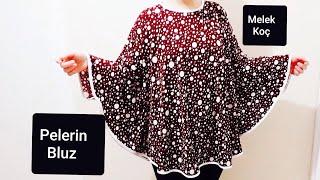 PELERİN BLUZ ! NASIL YAPILIR ??✅cape blouse