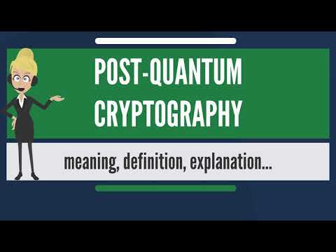 What is POST-QUANTUM CRYPTOGRAPHY? What does POST-QUANTUM CRYPTOGRAPHY mean?