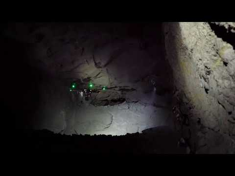 Autonomous drone flight into a mine stope