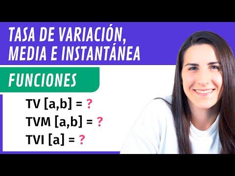 Tasa de Variación, Tasa de Variación Media y Tasa de Variación Instantánea 📉 Funciones