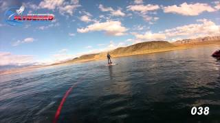 Learning to fly the Flyboard - first time riders show it