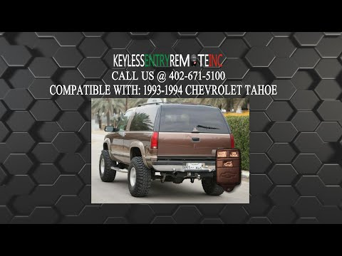 How To Replace Chevrolet Tahoe Key Fob Battery 1997 199