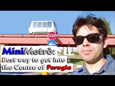 Minimetro Perugia: Easiest Fastest Best Way to get into the Centre Eurochocolate Umbria Jazz Review