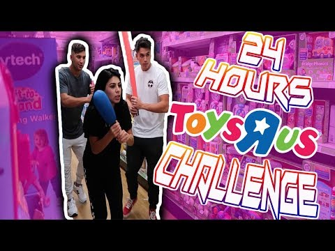24 HOUR CHALLENGE AT TOYS R US W/ BRAMTY JULIETTE