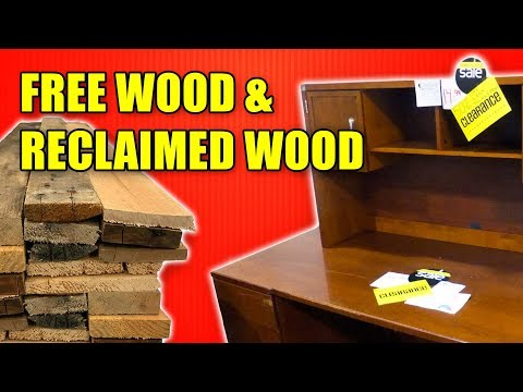 Reclaimed Wood & Free Wood – Money Saving Tips for Woodworking Part 2