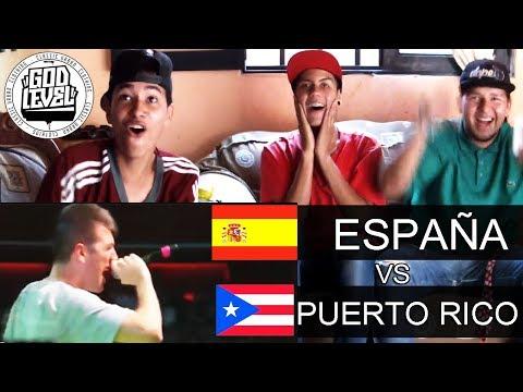 (BATALLÓN!!) TEAM ESPAÑA vs PUERTO RICO - God Level 2018 - Chuty, Invert  y Skone - REACCIÓN