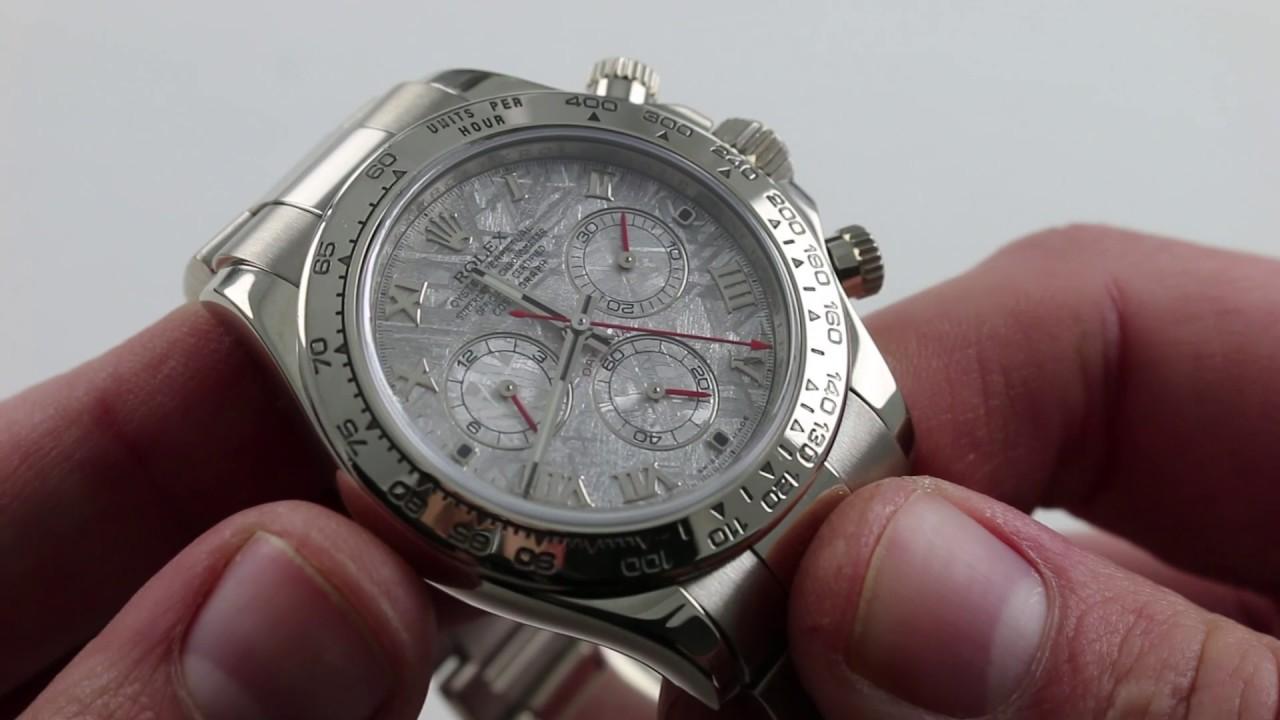 Rolex Daytona White Gold Meteorite Dial 116509 Luxury Watch Review