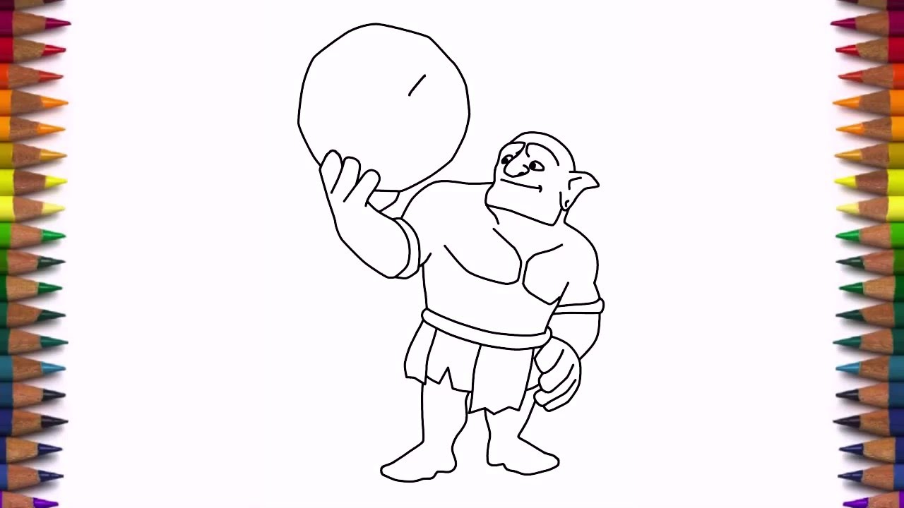 How To Draw Bowler Clash Of Clans Characters New Troop
