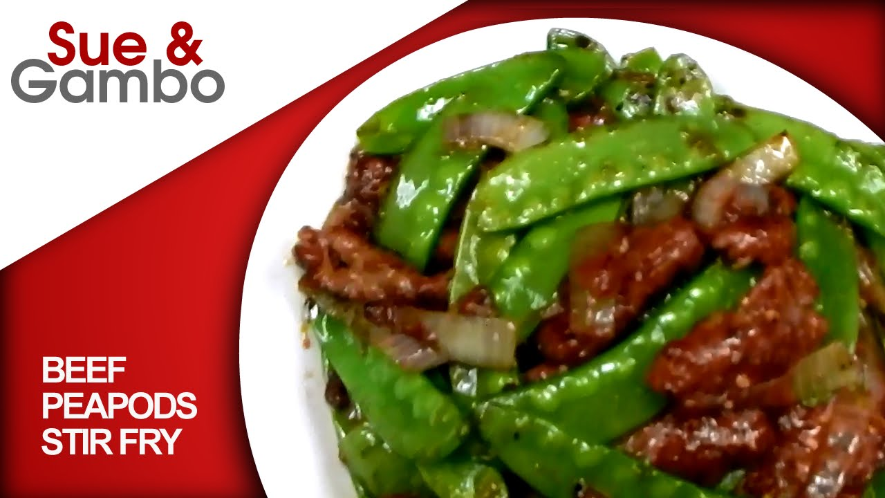 Beef Peapods stir fry / beef with snow peas - YouTube