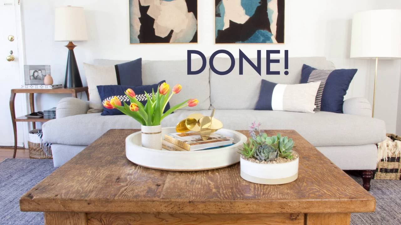 How To Style Your Coffee Table - YouTube