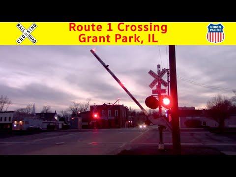 Route 1 Grade Crossing (Grant Park, IL) 3/9/18