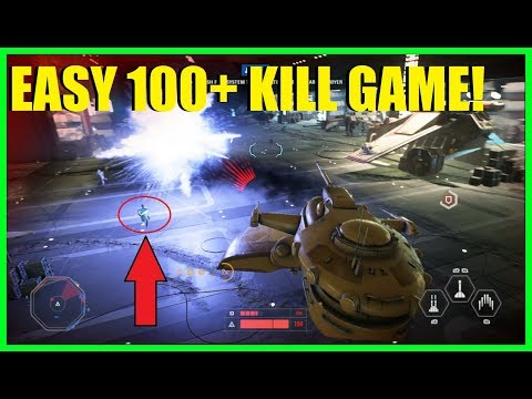 Star Wars Battlefront 2 - 100+ kill game & 50,000+ score! | How to get points FAST! EASY!