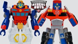NEW 2016 TRANSFORMERS RESCUE BOTS OPTIMUS PRIME HIGH TIDE TRANSFORM AUTOBOTS