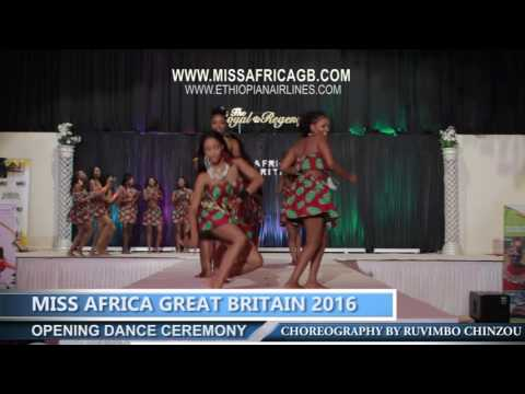 Opening Dance Miss Africa GREAT BRITAIN 2016 (OFFICIAL VIDEO)