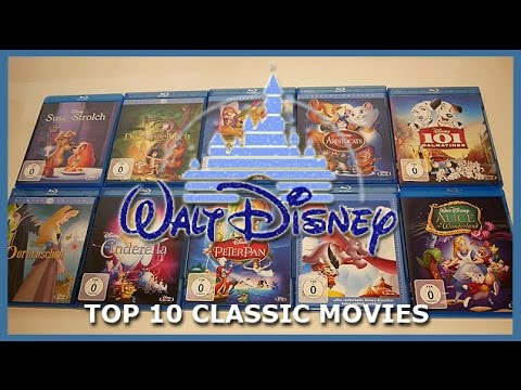 TOP 10 CLASSIC DISNEY MOVIES BLU-RAY UNBOXING