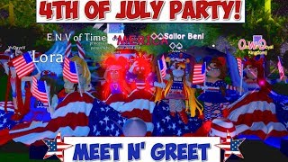 HOSTING A 4TH OF JULY PARTY IN MY SERVER WITH FANS! | ROBLOX ROYALE HIGH