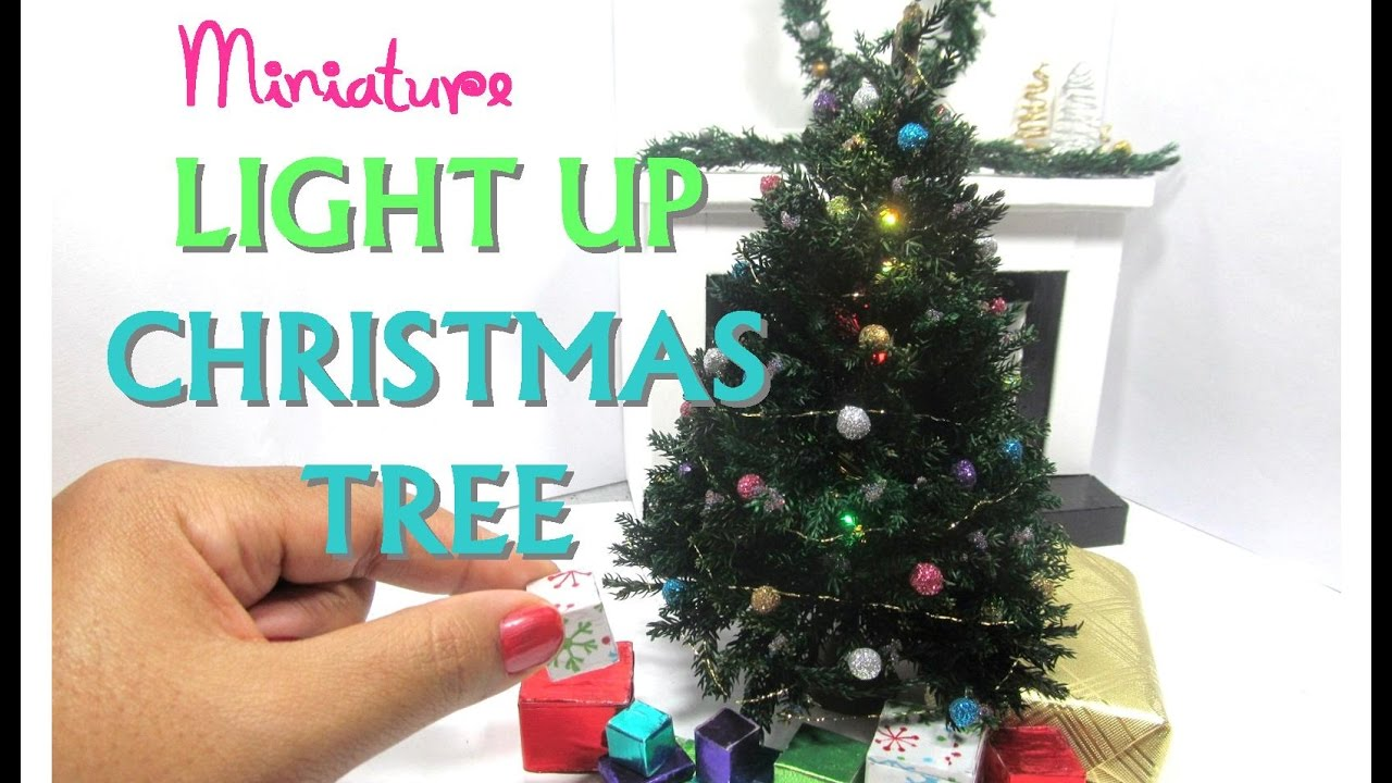 DIY Realistic Light Up Christmas Tree Moss Dollhouse Miniature - YouTube