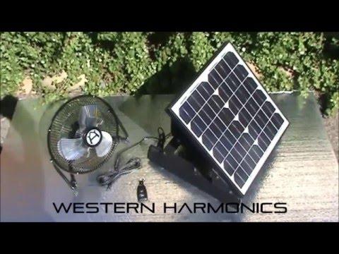 Solar Fan with Solar Battery Power Supply Wireless On/OFF