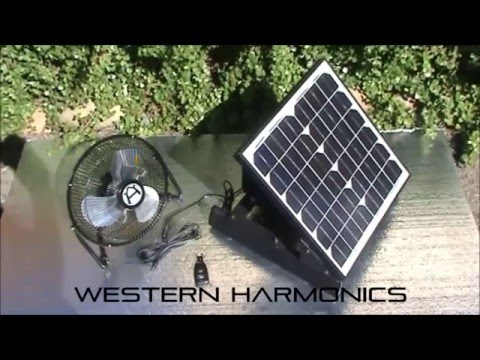 Solar Fan with Solar Battery Power Supply Wireless On/OFF