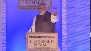 PM Modi at the Hindustan Times Leadership Summit 2015
