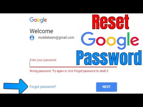 Recover gmail password on android phone