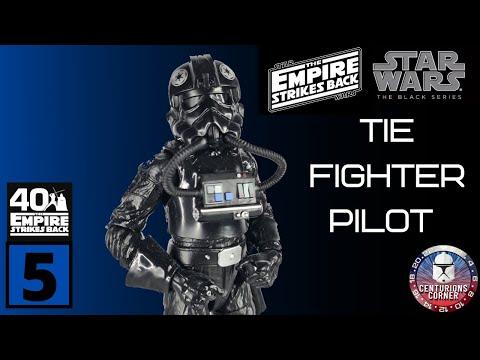 TIE Fighter Pilot Star Wars Noir Série 40th Anniversaire Retro Action Figure