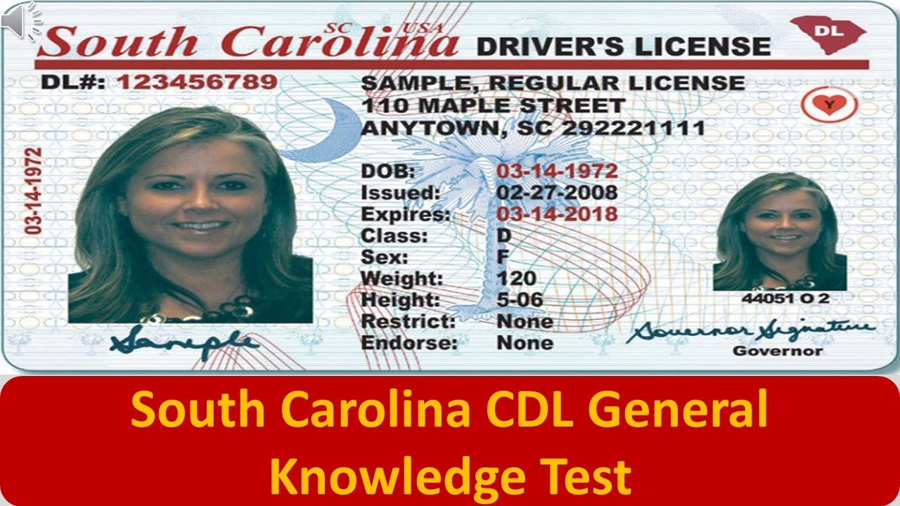 South Carolina CDL General Knowledge Test - YouTube