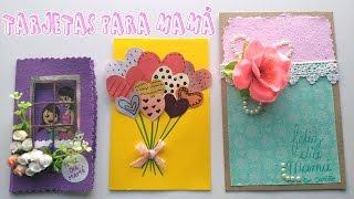 Tres ideas de tarjetas para día de la madre│Candy Bu