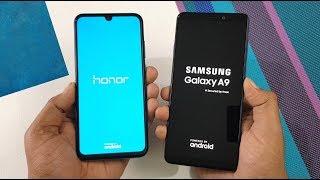 Honor 10 Lite vs Samsung A9 (2018) Speed Test & Camera Comparison !!
