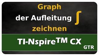 Let's Learn TI Nspire™ CX Graph der Aufleitung zeichnen - Stammfunktion