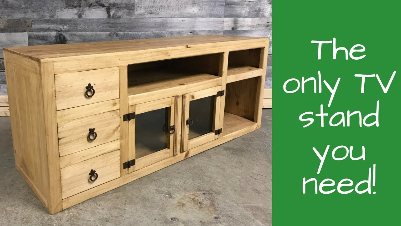 Rustic Pine Plasma Tv Stand Youtube