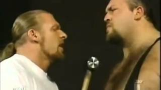WWE Raw (2002) - Triple H confronts Big Show Backstage - 8/5/02