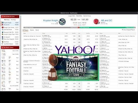2017 Yahoo Fantasy Football StatTracker Beta Overview